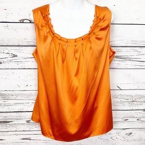 ELIE TAHARI buddha orange sleeveless kyra blouse